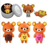 Girls cartoon male gift 16gu plate aprons bear usb flash drive 16g