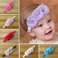 Free shipping, 2014 New Style Beautiful Headband hairband Baby Girls flowers headbands,kids' hair accessories Baby headwear