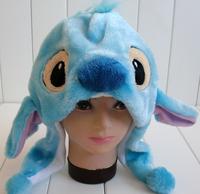 Free Shipping 10/pcs LiLo&Stitch series Soft Stitch Plush Hat, Christmas Gift EW-H-AP-021