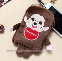 BB4 Fashion Novelty Lovely Soft Plush Stuffed Animal Cartoon Monchhichi Mobile Phone Bag Style Supernova Sale Pretty Gift