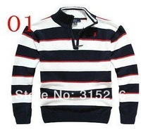 Low price promotion! hot! Classic stripes half zipper little pony knitting leisure men sweater cardigan knitwear.SIZE S-XXL