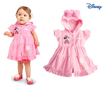 New 2014 Girl Dresses Minnie Kids Princess Dresses Children cotton  Hooded pink Dress free shipping 5pcs/1 lot,pink