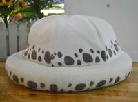 Free Shipping 10PCS/LOT One Piece Trafalgar Law's Cosplay Plush Hat Wholesale EW-H-AP-024