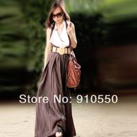 2014 free shipping Spring pleated full dress one-piece dress braces skirt dress elegant mm halter-neck slim plus size dress