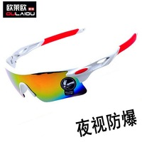 2014 New Real Orange Riding Eyewear Colorful 09181 Sunglasses Sports Mountain Bike The Trend of Mirror