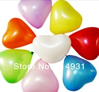 Min.order is $15(mix order)Fashion latex rubber heart balloon 10 inch 1.2g wedding party decoration ballon 100pcs/lot Party item