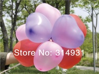 Min.order is $15(mix order)Fashion latex rubber heart balloon 10 inch 2.20g wedding party decoration ballon Party items FBL0012