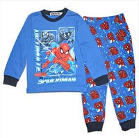 Brand nwe kids clothing sets autumn winter cartoon pajama set boys long sleeve nightwear children child pants suit spiderman
