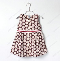Brand Girls Floral Designer Fashion Dress 2014 New Summer Princess Children's Clothing For Kids Girl Flower sundresses
