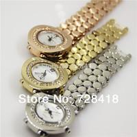 High Quality Japan Movt Geneva Luxury Fashion Rhinestone 3 colors Golden Woman's Party Dress Gift Bracelet Bangle Watch Hours