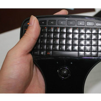 2.4GHz Ergonomics Full 2 in 1 Keyboard Trackball For STB PC Smart TV Projector Video Player Fly Air Mouse Keyboard Free shipping