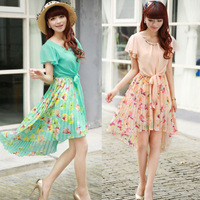 2014 spring women's sweet full dress bohemia elegant slim chiffon one-piece dress summer