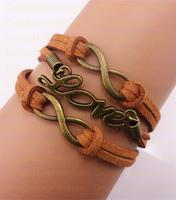 (Min Order $7) Infinity- Love Bracelet Jewelry bracelet- Karma bracelet Rope Bracelet Gift Free Shipping