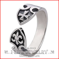 2014 Fashion 925 Sterling Silver Retro Court Retro Opening Adjustable Ring Base Without Stone for Sweethearts