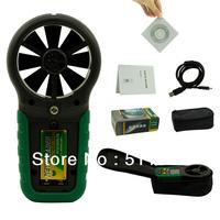MASTECH MS6252B Digital Anemometer  Wind Gauge Tester Environmental Meter USB Interface with Temp & RH Sensor