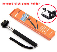 wholesale Portable Handheld Self-Timer Monopod for Camera & Phone Telescopic Extendible Selfprotrait Stand Holder,50set/lot