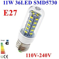 20pcs/lot 5730 SMD 36LED 11W E27 E14 110V 120V 220V 230V 240V Corn Bulb Light Lamp LED Lighting White/Warm White