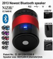 Free shipping 2013 NiZHI Brand Handfree CSR3.0 Bluetooth Portable Mini Bluetooth Wireless Stereo Speaker with Speakerphone