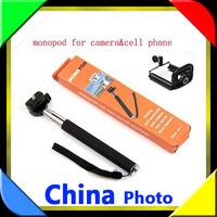 Exempt postage EMS 2ni1 50pcs  Camera Tripod Mobile phone Monopod + 50cellphone holder  for  phone i9300 i9500 n9006 n7100 DV