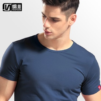 2014 man's designer brand short-sleeve t shirts sports fashion cotton casual ...