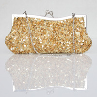 C44 paillette beaded clip bridal bag fashion women's day clutch evening dress banquet formal dress small bags