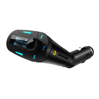 2014 Car Kit MP3 Player Wireless FM Transmitter Modulator USB SD MMC LCD with Remote Blue light