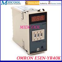 OMRON E5EN-YR40K LED Digital Temperature Controller type K 0~399C 220V with Sensor cable