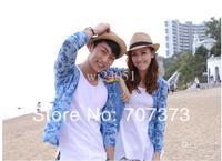 Wholesale - 2014 Essential new Korean versionsun hat straw hat  for male female beach couple beach hat 10pcs/lot