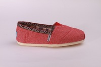 made in china   bobs shoe  Red Chambray Trim Women's Classics