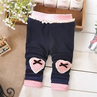 2014 Spring and Autumn Baby Girls Leggings pants ,Infant 2 heart Leggings Trousers,  K768