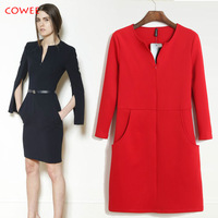 Free Shipping+Mo 2014 autumn fashion slim all-match bag female one-piece dress skirt