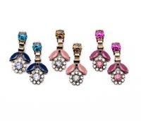 new design fashion vintage crystal drop flower earrings for women jewelry size about 5cm
