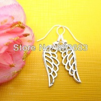 Free shipping 100pairs=200pcs Harry potter silver wing earrings,Hotsale Cosplay earrings,F0471