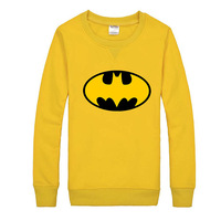 Free Shipping New 2014 Women Men Unisex Spring Autumn Fashion Batman Print Sweatshirts, Casual Long Sleeve Pullover Hoodies 6766