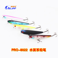Fishing Lure i Lure Pencil 9.4g/85mm VMC Hooks PRO-8022 Top Water 5pcs/lot Fishing Bait