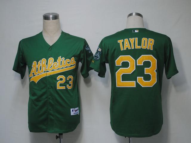 New Cheapest Oakland Athletics Mens Jerseys #23 Michael Taylor Green Cool Base Baseball Jersey,Size M-XXXL,Accept Mixed Orders(China (Mainland))