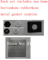 100% Top Quality Guarantee for iPhone 4S Home Button Keypad+Rubber+Metal Gasket Cushion Holder Mat by AM DHL EMS (20Sets/Lot)