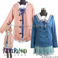 Kyokai no Kanata Cosplay Costume-- Kuriyama Mirai Cosplay Uniform with Sweater Set