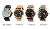 2014 Fashion Business Men Leather Strap Quartz Watches,  Analog Date Waterproof  Watches 100% Genuine BBD-72003