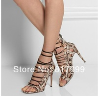 2014 Top brand women fashion sandals cut out shoes open toe lace up party dress sandals shoes free shipping