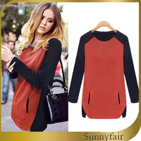 Red Black 2014 Women Dress Fashion Casual Dresses T-Shirt Style Spring Dress Free Shipping