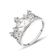 GNJ0518  925 sterling silver ring 925 Silver Jewelry With AAA Cubic Zircon for Women Fashion Crystal Jewerly