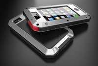 2014 New Cool Waterproof Dirtproof Armor Gorilla Glass Mental Aluminum Cases Cover For Apple iPhone 4 4G 4S 5 5G 5S 5C Protector