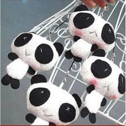 50x Plush TOY, Kawaii Panda DOLL Cell Mobile Phone Charm Strap Lanyard, Bag Pendant Keychain Ornaments(China (Mainland))