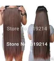 "24""(60cm) streight clip in hair extensions hair piece hair 1pcs set 4 clips #8"