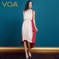 Voa silk jacquard one-piece dress bohemia dress 2014 spring and summer mulberry silk beach full dress a0287