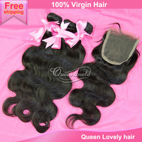 Toppeat 6a grade peruvian virgin hair with closure body wave bundles free shipping queen hair products human hair extension 4pcs