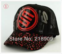 2pcs-Korean version of the mesh cap man woman van cap Truck cap sun hat Summer lovers hat-colorful