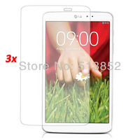 3pcs /package Transparent Clear LCD Protective Film for LG GPad 8.3, 1pc Cloth with 1pc Retail Package