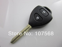Free shipping Remote 2 button key shell for Toyota Hilux Rav4 Corolla Camry Yaris Prado Echo KEY 10pcs/lot